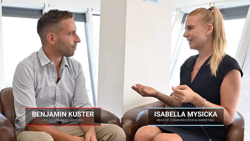 Videointerview between nine Employees Benjamin Kuster and Isabella Mysicka